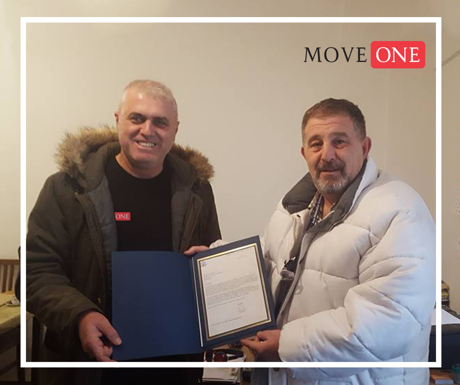 Move One Kosovo: Plaque of Appreciation from US Embassy  - Move One