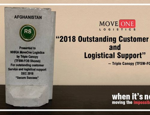 Move One Logistics Afghanistan: Outstanding Customer Service and Logistical Support 2018